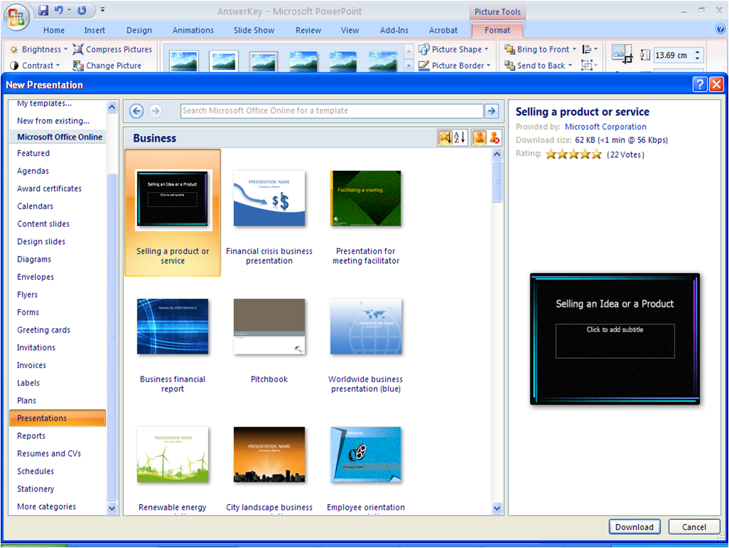 Microsoft Office Template Powerpoint